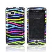 T-Mobile G2 Hard Case -Rainbow Zebra on Black