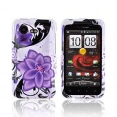 HTC Droid Incredible 2 Hard Case - Purple Lilly on White