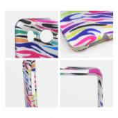 HTC Inspire 4G Hard Case - Rainbow Zebra on Black