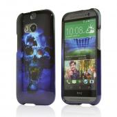 Blue Skull Hard Case for HTC One (M8)