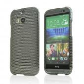 Gray/ Black Carbon Fiber Design Hard Case for HTC One (M8)