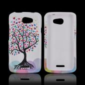 HTC One X Hard Case - Love Tree on White
