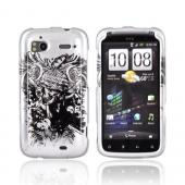 HTC Sensation 4G Hard Case - Army Skull on Silver