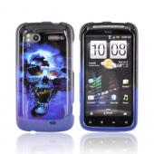 HTC Sensation 4G Hard Case - Blue Skull