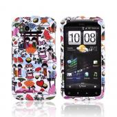 HTC Sensation 4G Hard Case - Kawaii Baby Skull Design on White