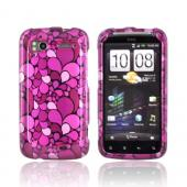 HTC Sensation 4G Hard Case - Hot Pink/ Pink/ Magenta Flower Petals