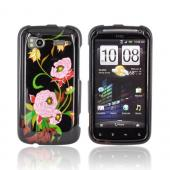 HTC Sensation 4G Hard Case - Pink Peony on Black