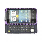 HTC EVO Shift 4G Hard Case - Black/Purple Zebra