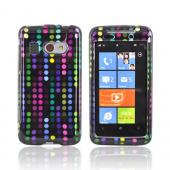 HTC Surround T8788 Hard Case - Rainbow Dots on Black