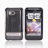 HTC Thunderbolt Hard Case - Silver Lines on Black
