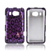 HTC Titan 2 Hard Case - Purple/ Black Leopard