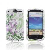 AT&T Impulse 4G Hard Case - Purple Lily on Green/ White