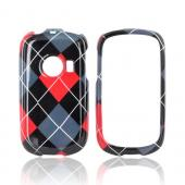 Huawei M835 Hard Case - Red/ Gray/ Black Argyle