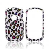 Huawei M835 Hard Case - Rainbow Leopard on White