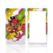 Huawei Ideos X6 Hard Case - Multi-color Pirate Ship on White