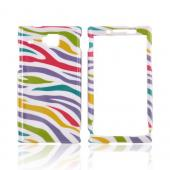 Huawei Ideos X6 Hard Case - Rainbow Zebra on White
