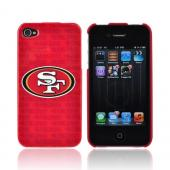 NFL Licensed Apple iPhone 4/4S Hard Case - Red San Francisco 49ers