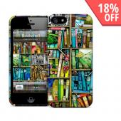 OEM GelaSkins Colorful Bookshelf Hard Case for iPhone 5/5S