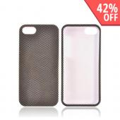 Apple iPhone 5/5S Hard Case - Black/ Gray Carbon Fiber Design