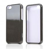 Black/ Gray Carbon Fiber Design Hard Case for Apple iPhone 5C
