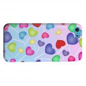 Geeks Designer Line (GDL) Apple iPhone 5C Matte Hard Back Cover - Assorted Heart Lollipops