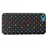 Geeks Designer Line (GDL) Apple iPhone 5C Matte Hard Back Cover - Small & Rainbow on Black