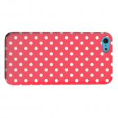 Geeks Designer Line (GDL) Apple iPhone 5C Matte Hard Back Cover - White Dots on Red