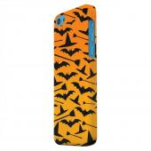 Geeks Designer Line (GDL) Apple iPhone 5C Matte Hard Back Cover - Witch Hat/Broom/Bat on Orange