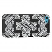 Geeks Designer Line (GDL) Apple iPhone 5C Matte Hard Back Cover - Tribal Art on Black