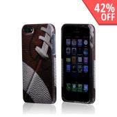 Brown/ White Football Hard Case for Apple iPhone 5/5S