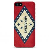 Grunge Arkansas - Geeks Designer Line Flag Series Hard Case for Apple iPhone 5/5S