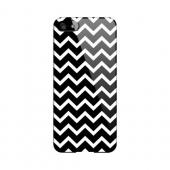 White on Black Geeks Designer Line Zig Zag Series Slim Hard Case for Apple iPhone 5/5S