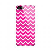 White on Hot Pink Geeks Designer Line Zig Zag Series Slim Hard Case for Apple iPhone 5/5S