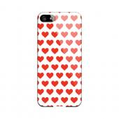 Red Hearts on White Geeks Designer Line Heart Series Slim Hard Case for Apple iPhone 5/5S