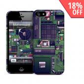 OEM GelaSkins Green/ Black Motherboard Hard Case for iPhone 5/5S