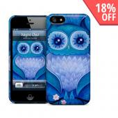OEM GelaSkins Blue Night Owl Hard Case for iPhone 5/5S