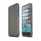 "Gray/ Black Carbon Fiber Design Apple iPhone 6 (4.7"") Hard Case Cover; Perfect fit as Best Coolest Design Plastic Cases"