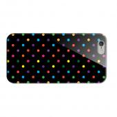 Geeks Designer Line (GDL) Apple iPhone 6 Matte Hard Back Cover - Small & Rainbow on Black