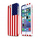 "USA Flag Apple iPhone 6 (4.7"") Hard Case Cover; Perfect fit as Best Coolest Design Plastic Cases"