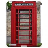 English Telephone Booth - Geeks Designer Line Humor Series Hard Case for Apple iPad (3rd & 4th Gen.)