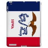 Iowa - Geeks Designer Line Flag Series Hard Back Case for Apple iPad 2nd Generation
