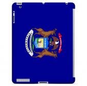 Michigan - Geeks Designer Line Flag Series Hard Back Case for Apple iPad 2nd Generation