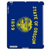 Oregon - Geeks Designer Line Flag Series Hard Back Case for Apple iPad 2nd Generation