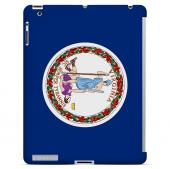 Virginia - Geeks Designer Line Flag Series Hard Back Case for Apple iPad 2nd Generation