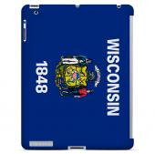 Wisconsin - Geeks Designer Line Flag Series Hard Back Case for Apple iPad 2nd Generation