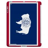 Wyoming - Geeks Designer Line Flag Series Hard Back Case for Apple iPad 2nd Generation