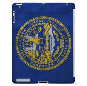 Grunge Nebraska - Geeks Designer Line Flag Series Hard Case for Apple iPad Mini 2nd Generation