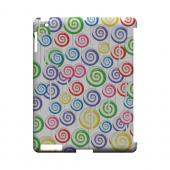 Assorted Lollipops Geeks Designer Line Candy Series Slim Hard Back Cover for Apple iPad (3rd & 4th Gen.)
