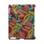 Multi-Colored Gummy Worms Geeks Designer Line Candy Series Slim Hard Back Cover for Apple iPad (3rd & 4th Gen.)