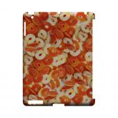 Orange/White Gummy Rings Geeks Designer Line Candy Series Slim Hard Back Cover for Apple iPad (3rd & 4th Gen.)